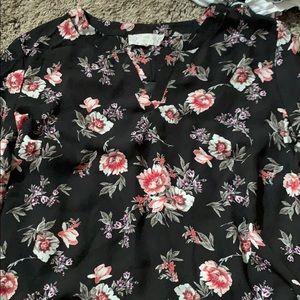 Long sleeve flower blouse